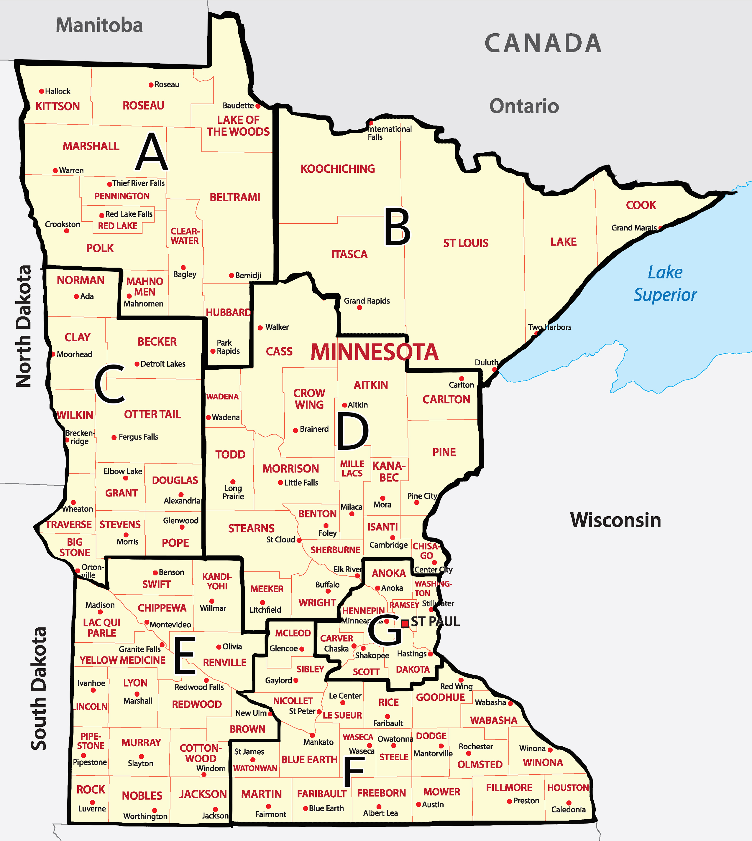 MN District Map
