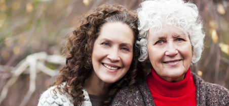 Older woman with middle aged woman